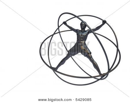 Man In A Simulator - A Gyroscope Isolated