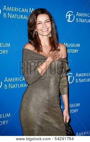NEW YORK-NOV 21; Model Paulina Porizkova attends the American Museum of Natural History's 2013 Museum Gala at American Museum of Natural History on November 21, 2013 in New York City.