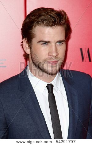 NEW YORK-NOV 20; Actor Liam Hemsworth attends the 'Hunger Games: Catching Fire' premiere at AMC Lincoln Square Theater on November 20, 2013 in New York City.