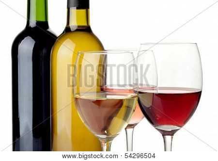 Wine On White Background