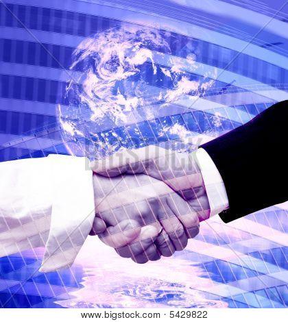 Handshake moderne Hintergrund
