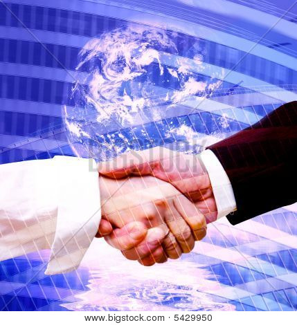 Handshake Modern Background
