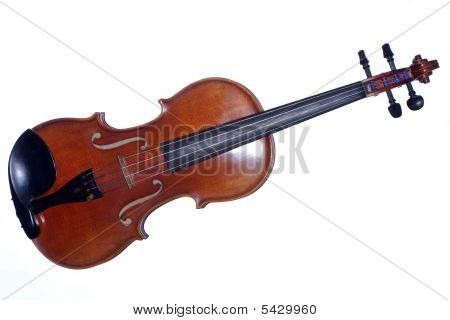 Violin Viola Antique Isolated On White