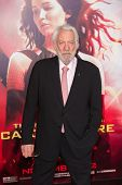 LOS ANGELES, CA - NOVEMBER 18: Actor Donald Sutherland arrives at the premiere of The Hunger Games: