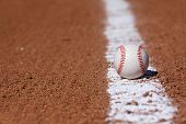 picture of infield  - Baseball on the Infield Chalk Line with room for copy - JPG