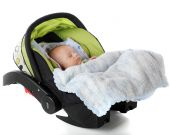 stock photo of car carrier  - A sleeping baby in an infant car seat - JPG