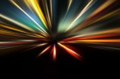 stock photo of acceleration  - turbo acceleration speed motion on night road - JPG