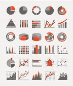 stock photo of summary  - Graphic business ratings and charts - JPG