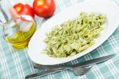 Pasta With Pesto Sauce poster