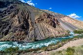foto of shan  - Wild water of Kekemeren river in Tien Shan - JPG