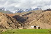 stock photo of semi-arid  - House in arid Tien Shan mountains - JPG