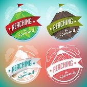 image of reach the stars  - A mountain badge with four different versions for mountaineering - JPG