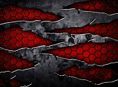 picture of scrape  - abstract cracked metal - JPG