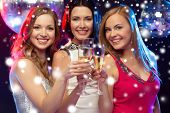 stock photo of champagne glasses  - new year - JPG