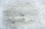 picture of special occasion  - Old wooden board with snow flakes  - JPG