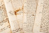 picture of cursive  - Four old manuscripts of the 1700 - JPG
