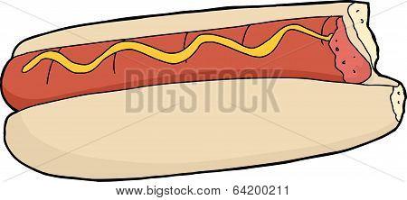 Bitten Hot Dog