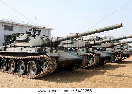 Japanese military tank