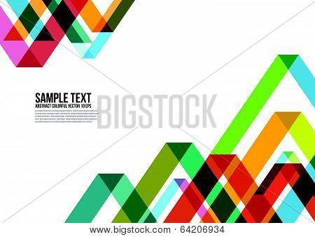Abstract Colorful Triangle Pattern Background.
