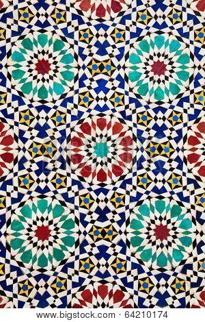 Colorful arabic mosaics