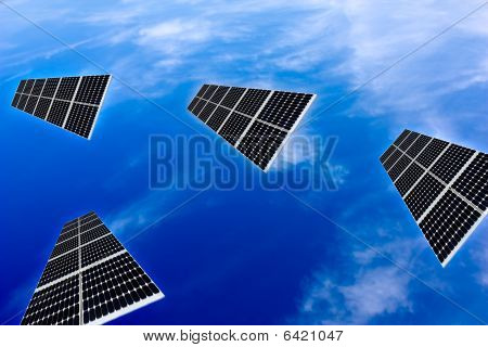 Solar Panels In The Sky