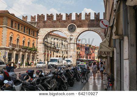 Gate Portoni della Bra in Verona, Italy