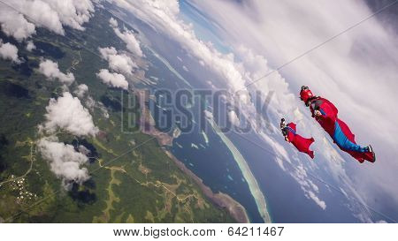 Wingsuit Over Palau