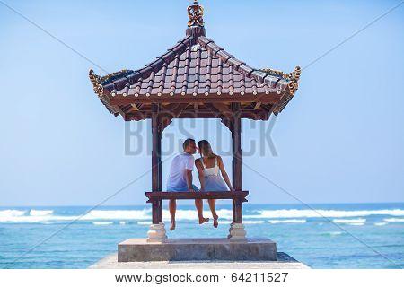 Lovely Couple In Gazebo