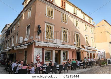 Old town restaurant in Zadar