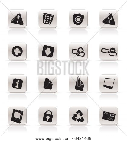 Simple Web site and computer Icons