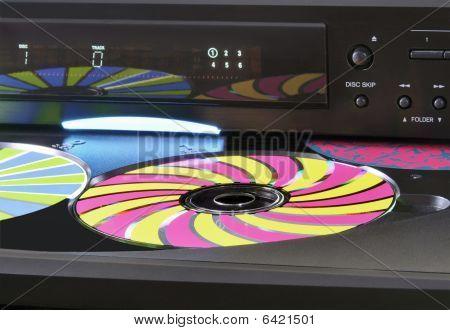 Black CD Changer