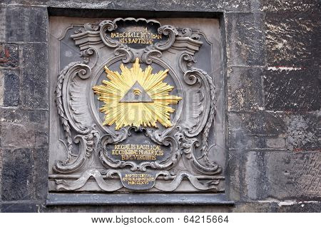 Historical Signs On Building At Aachen, Germany