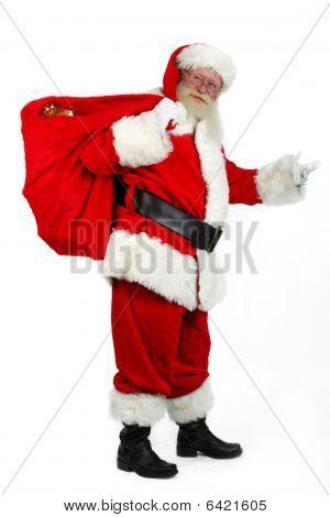 Santa Bringing Presents