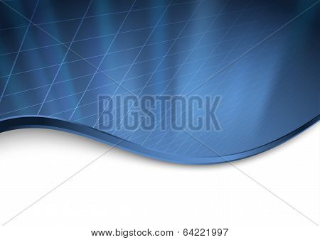 Abstract Dark Blue Technology Background