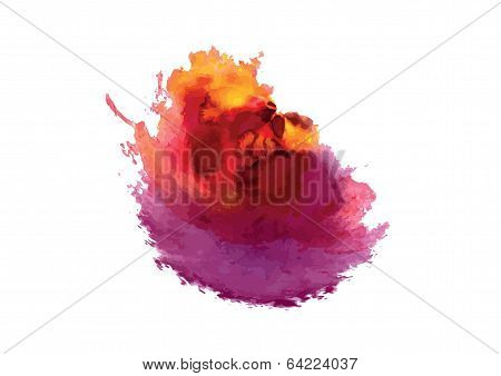 Bright Abstract Color Blots