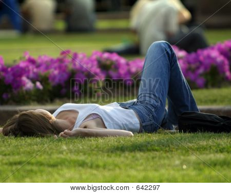 Rest On A Lawn