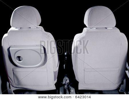 Car back seats interior