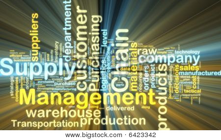 Supply Chain Management Wordcloud brilhante