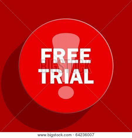 free trial web flat icon