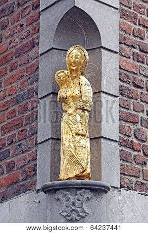 Old Statue At The Building - Aachen, Germany