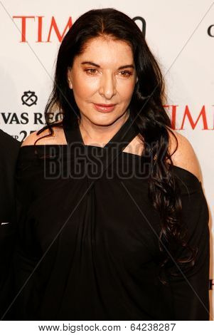 NEW YORK-APR 29: Performance artist Marina Abramovic attends the Time 100 Gala for the Most Influential People at Frederick P. Rose Hall at Lincoln Center on April 29, 2014 in New York City.
