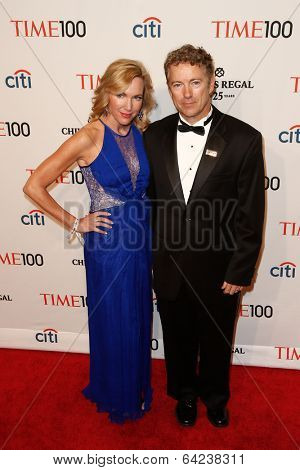 NEW YORK-APR 29: Senator Rand Paul and wife Kelley Ashby Paul attend the Time 100 Gala for the  Most Influential People in the World at the Frederick P. Rose Hall on April 29, 2014 in New York City.