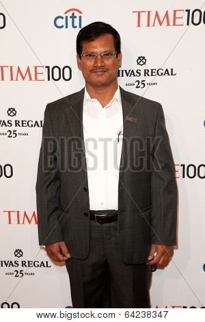 NEW YORK-APR 29: Social entrepreneur Arunachalam Muruganantham attends the Time 100 Gala for the Most Influential People at Frederick P. Rose Hall at Lincoln Center on April 29, 2014 in New York City.