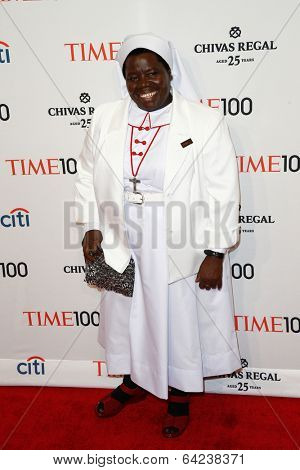 NEW YORK-APR 29: Sister Rosemary Nyirumbe attends the Time 100 Gala for the  Most Influential People in the World at Frederick P. Rose Hall at Lincoln Center on April 29, 2014 in New York City.
