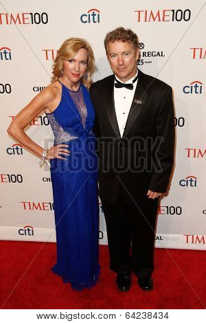 NEW YORK-APR 29: Senator Rand Paul and wife Kelley Ashby Paul attend the Time 100 Gala for the  Most Influential People at Frederick P. Rose Hall at Lincoln Center on April 29, 2014 in New York City.