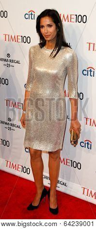 NEW YORK-APR 29: TV host Padma Lakshmi attends the Time 100 Gala for the Most Influential People in the World at the Frederick P. Rose Hall at Lincoln Center on April 29, 2014 in New York City.