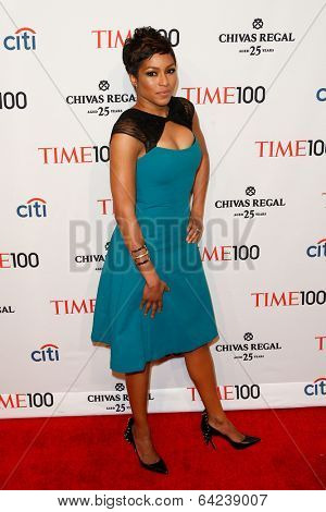 NEW YORK-APR 29: TV host Alicia Quarles attends the Time 100 Gala for the Most Influential People in the World at the Frederick P. Rose Hall at Lincoln Center on April 29, 2014 in New York City.