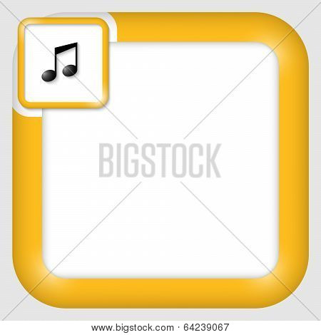 Vector Text Box For Any Text With Music Icon