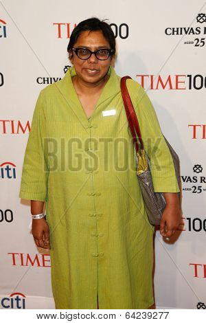 NEW YORK-APR 29: Sex trafficking abolitionist Ruchira Gupta attends the Time 100 Gala for the Most Influential People at Frederick P. Rose Hall at Lincoln Center on April 29, 2014 in New York City.