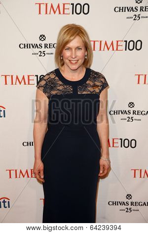 NEW YORK-APR 29: Senator Kirsten Gillibrand attends the Time 100 Gala for the Most Influential People in the World at the Frederick P. Rose Hall at Lincoln Center on April 29, 2014 in New York City.